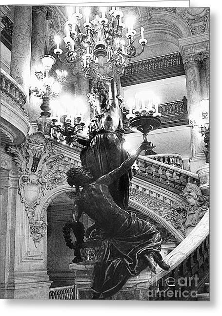 Opera Staircase Greeting Card by Louise Fahy