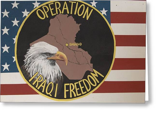 Operation Iraqi Freedom - Oif Greeting Card by Unknown