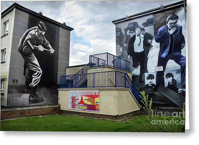 Operation Motorman Mural In Derry Greeting Card by RicardMN Photography