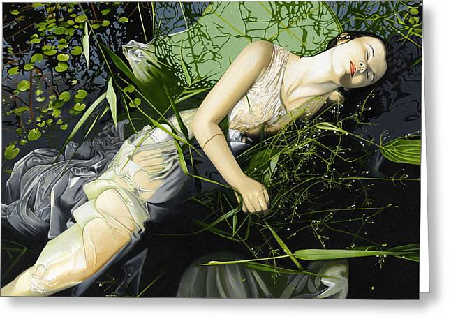 Ophelia Greeting Card by Andrew Harrison