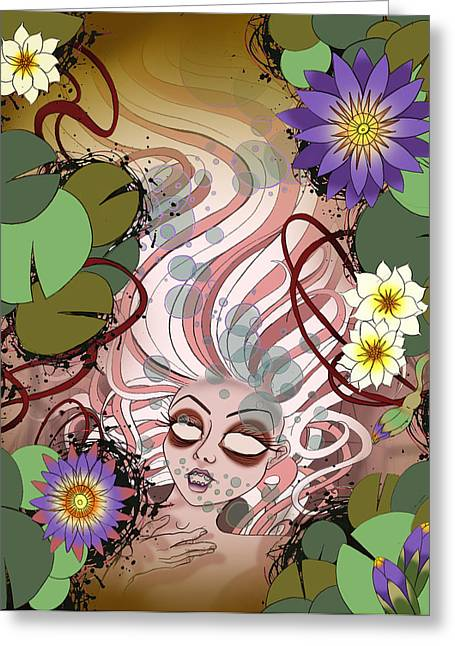 Ophelia Greeting Card by Kate Collins