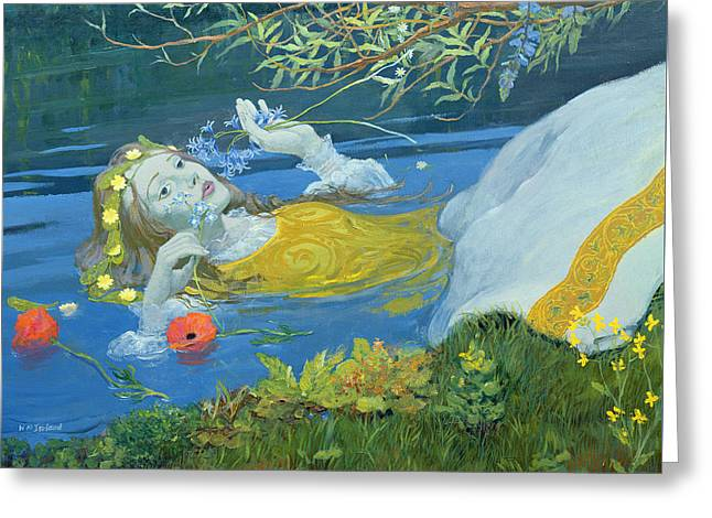 Ophelia Greeting Card by William Ireland