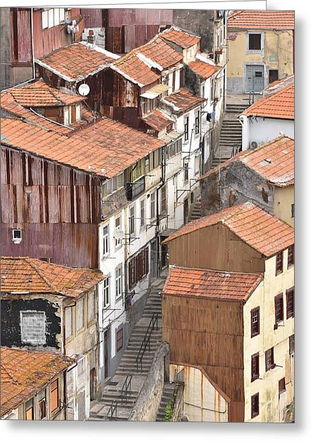 Oporto Houses Greeting Card