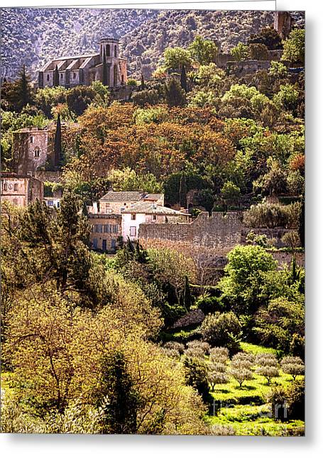 Oppede Le Vieux Landscape Greeting Card