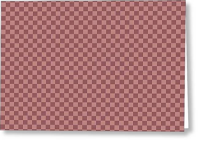 Opposites Attract Checkerboard 10 X 10 In Pink Greeting Card