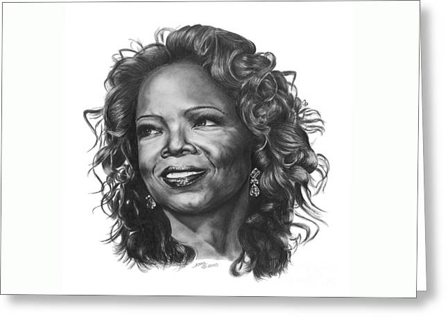 Oprah Greeting Card by Marianne NANA Betts