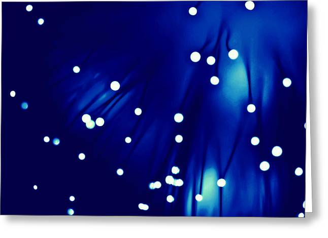 Optic Lights Background Greeting Card by Lanjee Chee