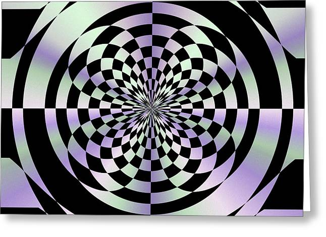 Optical Checkerboard Greeting Card