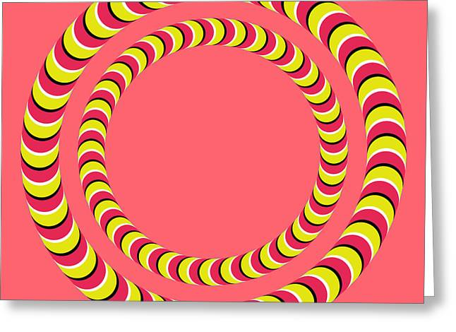 Optical Illusion Circle In Circle Greeting Card by Sumit Mehndiratta