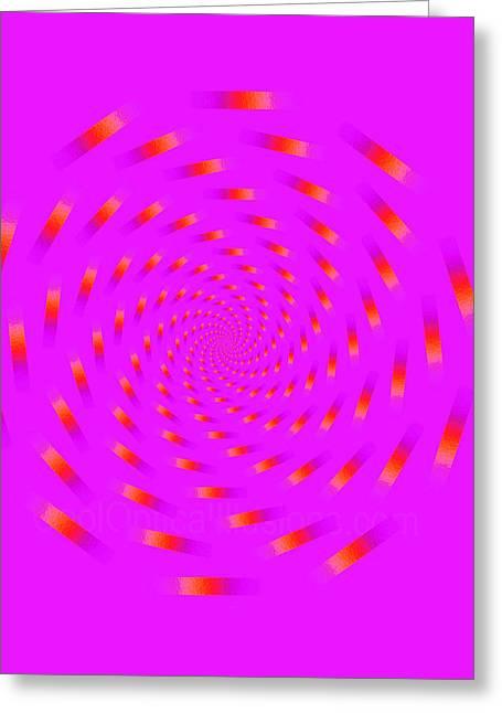 Optical Illusion Spinning Circle Greeting Card