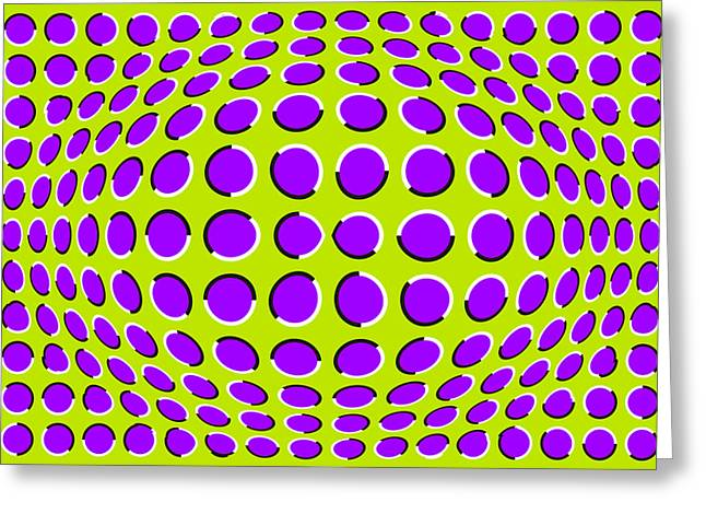 Optical Illusion The Ball Greeting Card by Sumit Mehndiratta