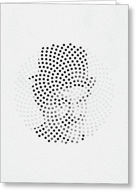 Greeting Card featuring the digital art Optical Illusions - Iconical People 2 by Klara Acel