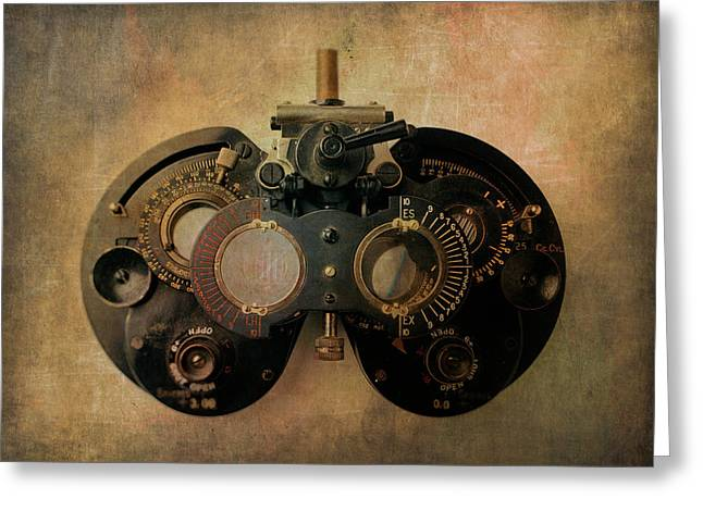 Optometrist Equipment Greeting Card