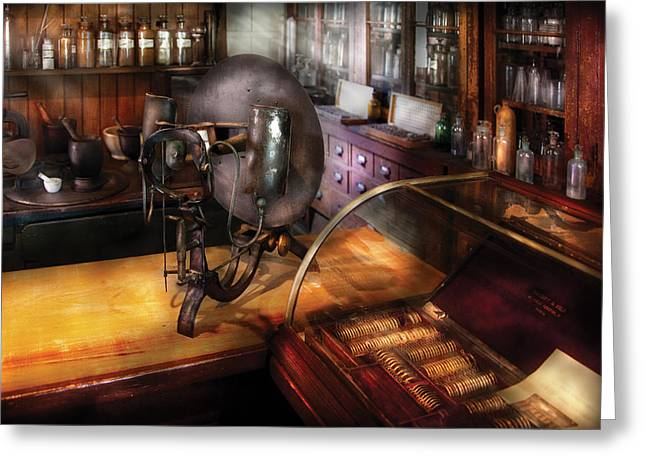 Interior Scene Greeting Cards - Optometrist - Number 1 or Number 2  Greeting Card by Mike Savad