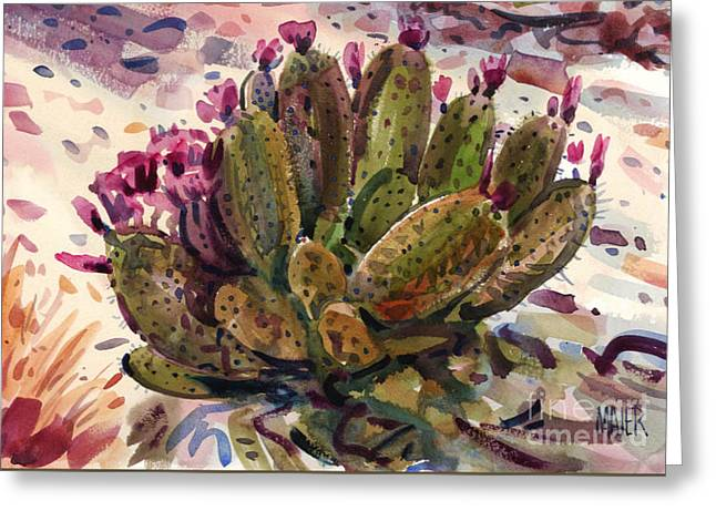 Opuntia Cactus Greeting Card by Donald Maier