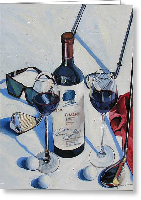 Opus One And Golf Greeting Card