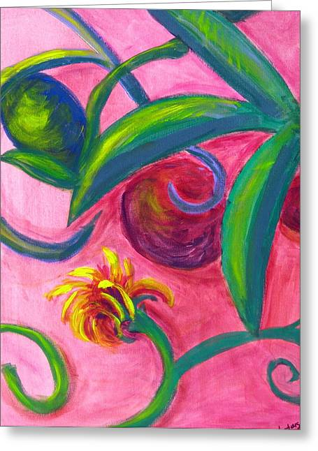 Opus Seven Greeting Card by Rebecca Merola