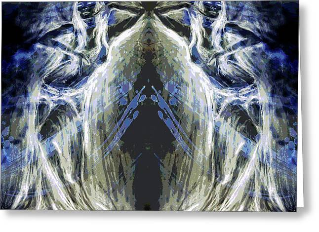 Oracles At The Cave Of Creation Greeting Card by Zoe Oakley