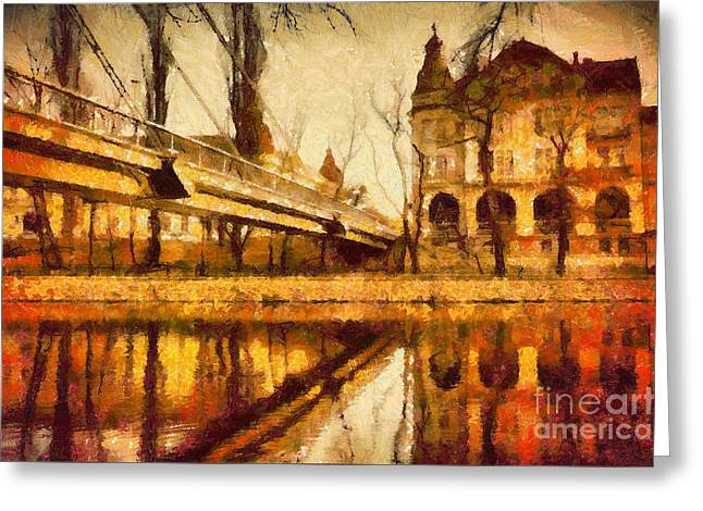 Oradea Chris River Greeting Card