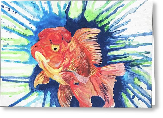 Oranda Splash Greeting Card
