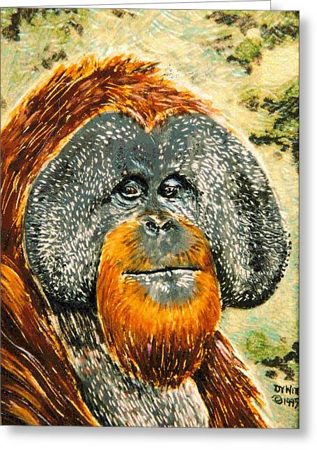 Orang Utan Greeting Card by Dy Witt