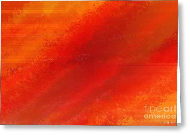 Orange 1 Greeting Card