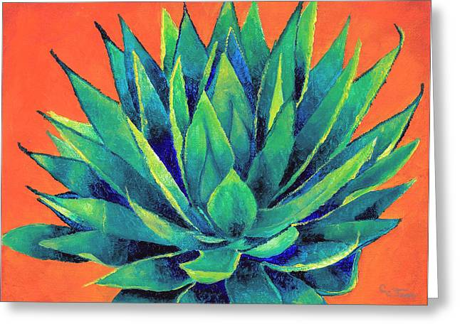 Dawnstarstudios Greeting Cards - Orange and Agave Greeting Card by Dawnstarstudios