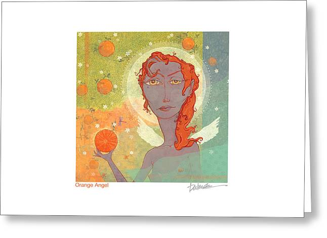 Orange Angel Poster Greeting Card by Dennis Wunsch