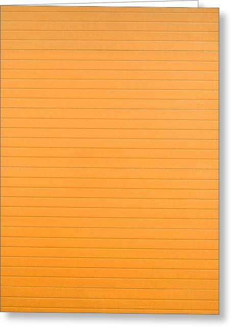 Orange Background Greeting Card by Boyan Dimitrov