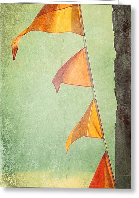 Orange Banners Greeting Card by Valerie Reeves