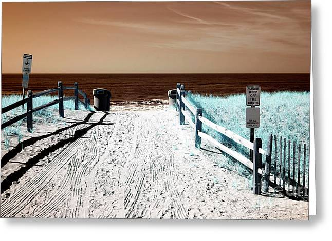 Orange Beach Entry Greeting Card by John Rizzuto