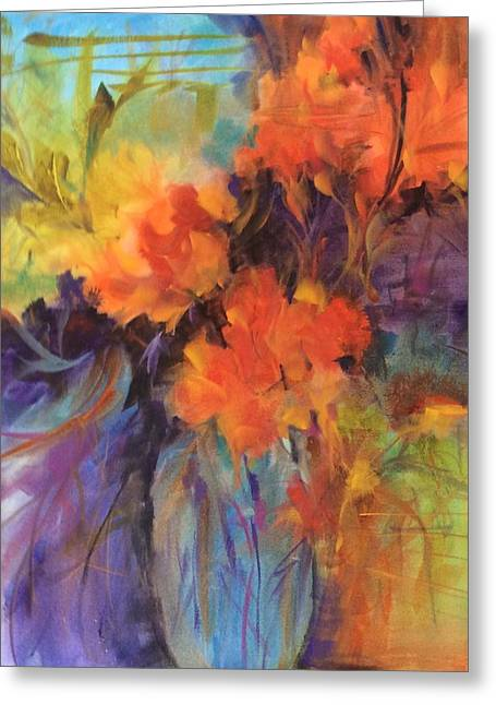 Orange Bouquet Greeting Card