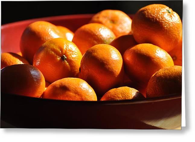 Orange Greeting Cards - Orange Bowl Greeting Card by Peter  McIntosh