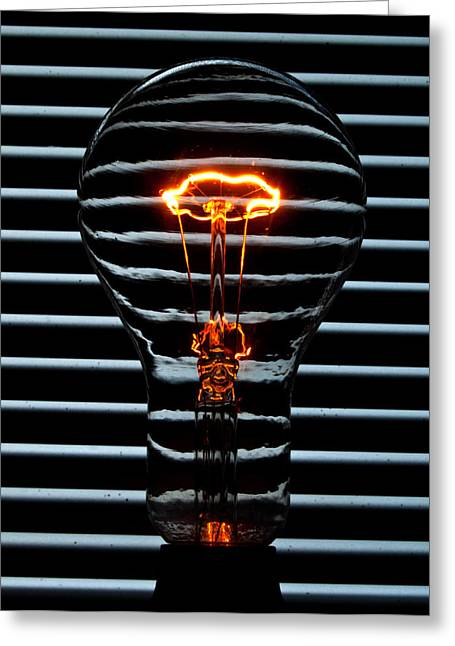 Orange Bulb Greeting Card by Rob Hawkins