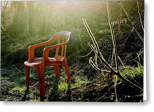 Orange Chair Greeting Card by Bernard Jaubert