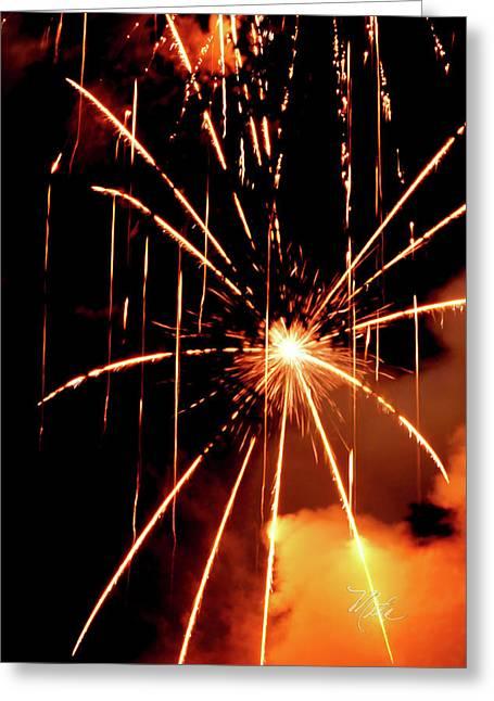 Orange Chetola Fireworks Greeting Card