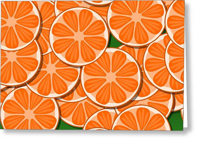 Orange Citrus Slices Greeting Card