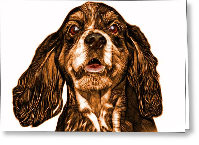 Orange Cocker Spaniel Pop Art - 8249 - Wb Greeting Card