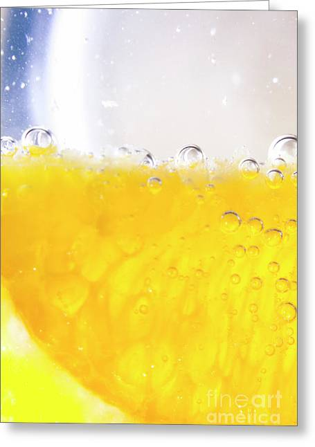Orange Cocktail Glass Greeting Card