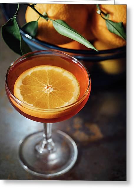 Orange Cocktail Greeting Card