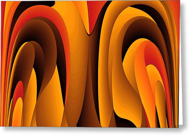 Orange Color Abstract Greeting Card