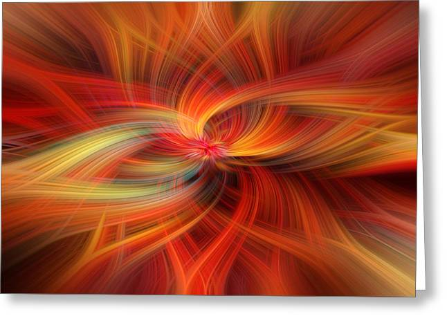 Orange Colored Abstract. Concept  Immense Gratitude Greeting Card by Jenny Rainbow