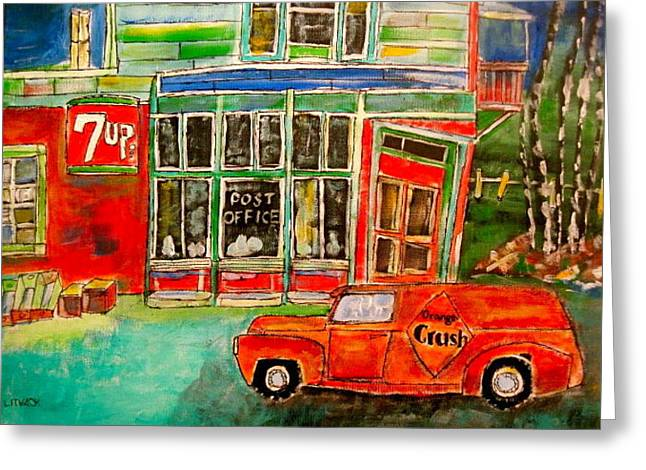 Orange Crush Delivery Greeting Card by Michael Litvack