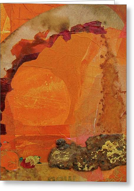 Orange Day Greeting Card by Carole Johnson