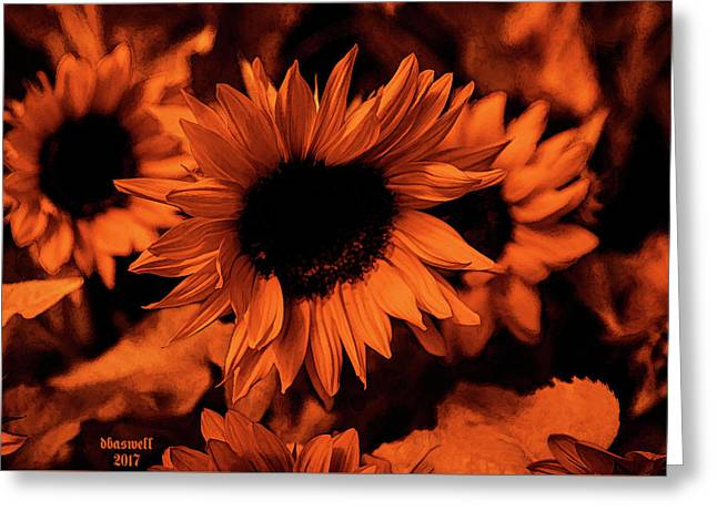 Orange  Greeting Card by Dennis Baswell