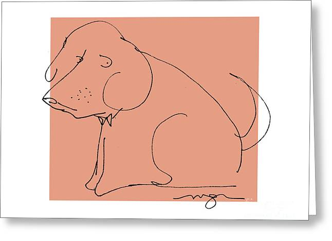 Orange Dog Greeting Card