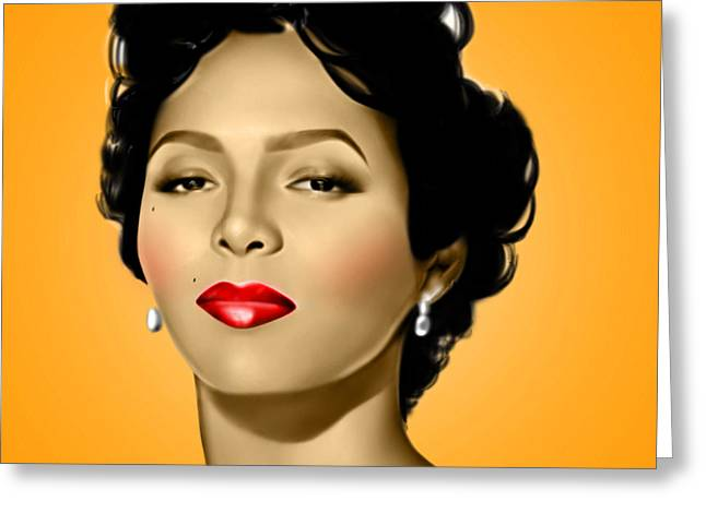 Orange Dorothy Greeting Card by Davonte Bailey