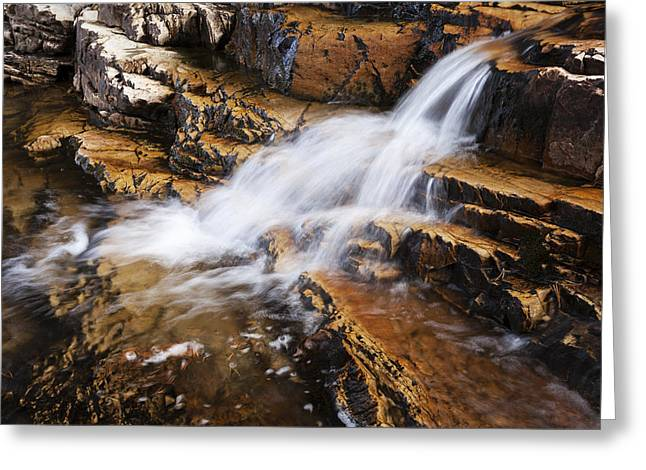 Orange Falls Greeting Card by Chad Dutson