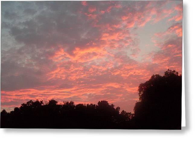 Orange Florida Sunset Greeting Card by Warren Thompson