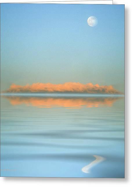 Orange Fog Greeting Card by Jerry McElroy